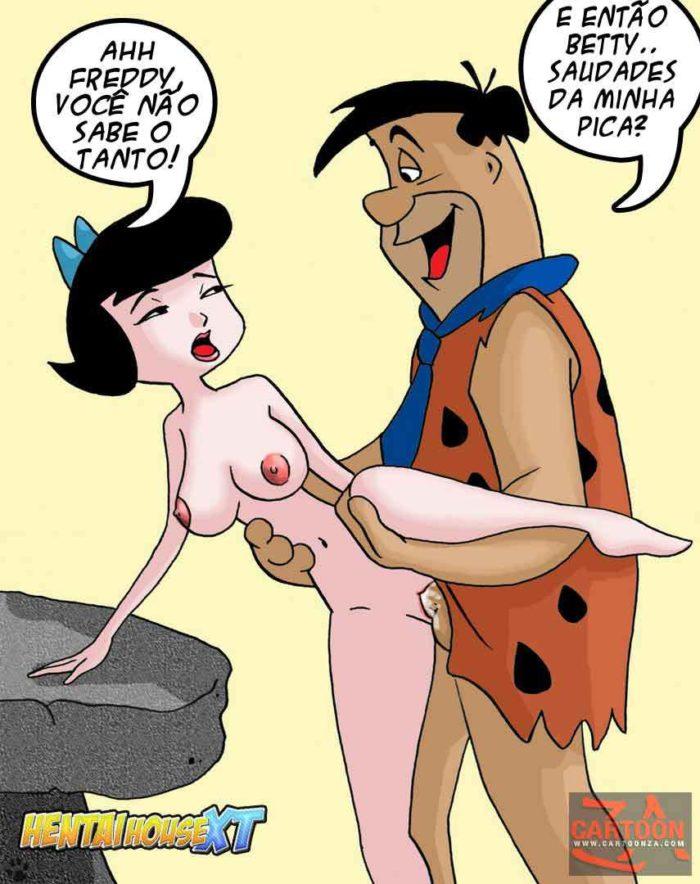 HQ Erótico Comics os Flintstones fazendo suruba