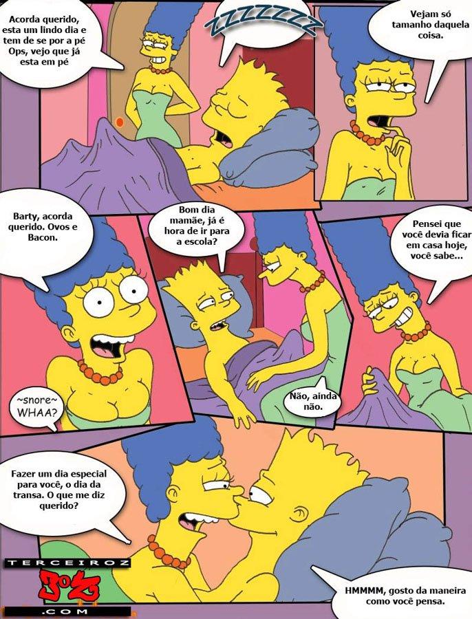 HQ erótico os Simpsons sacanagem em família