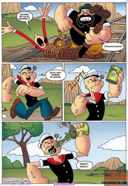 Popeye e Olívia Palito quadrinhos eróticos