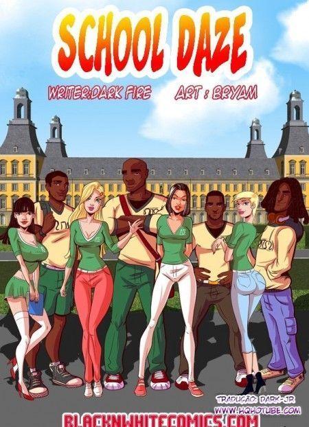 Quadrinhos de sexo inter-racial estudantes novinhas transando