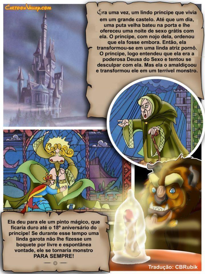 Historinhas de sexo Disney A Bela e a Fera a verdadeira orgia