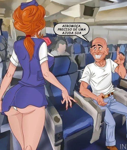 Imagem comics porno comendo a aeromoça