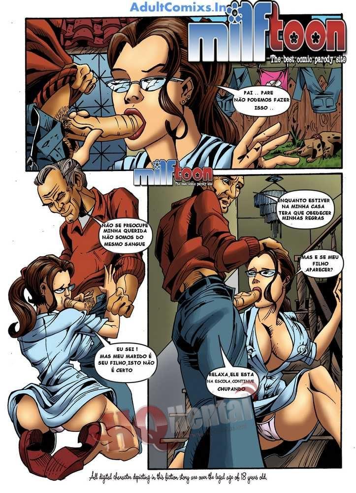 Quadrinhos eróticos traição – Mãe fode com filho e o sogro