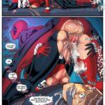 HQs e Historinhas cartoon: Deadpool comendo Arlequina e suas amigas