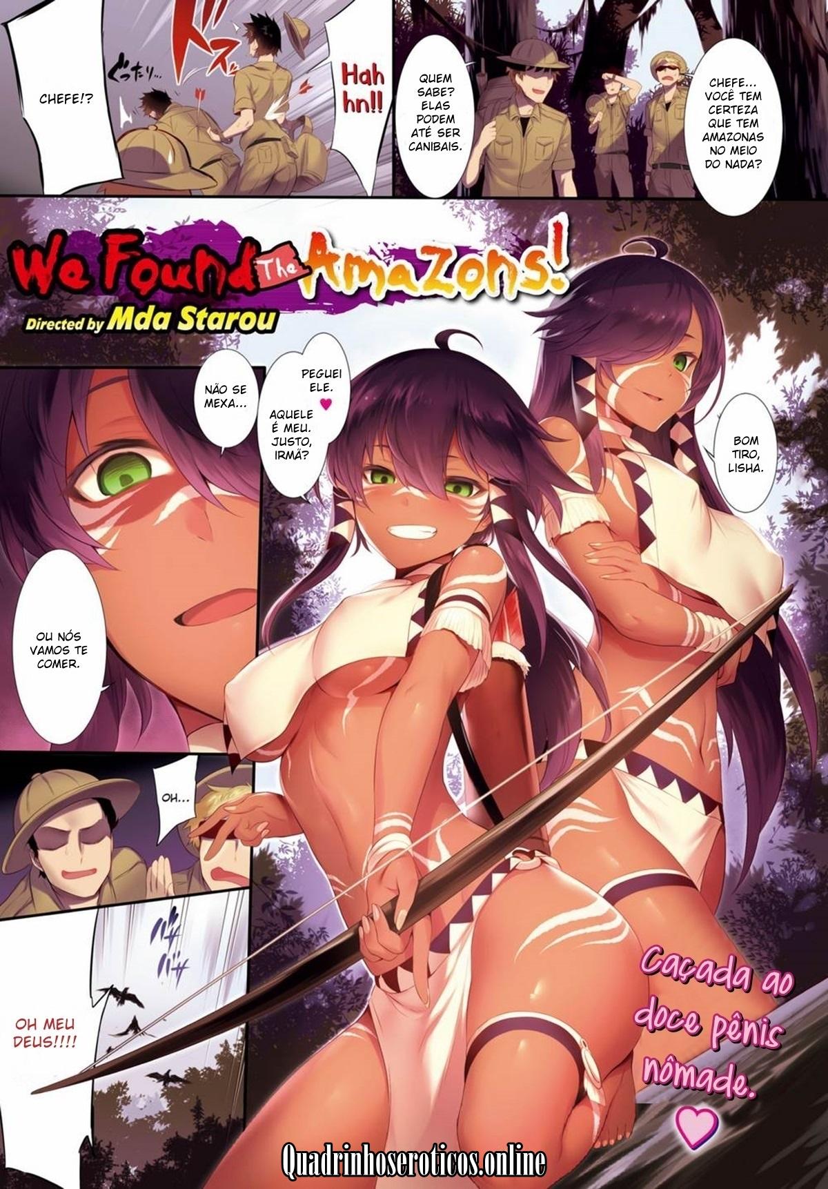 Sexo entre irmãs amazonas no Manga Hentai