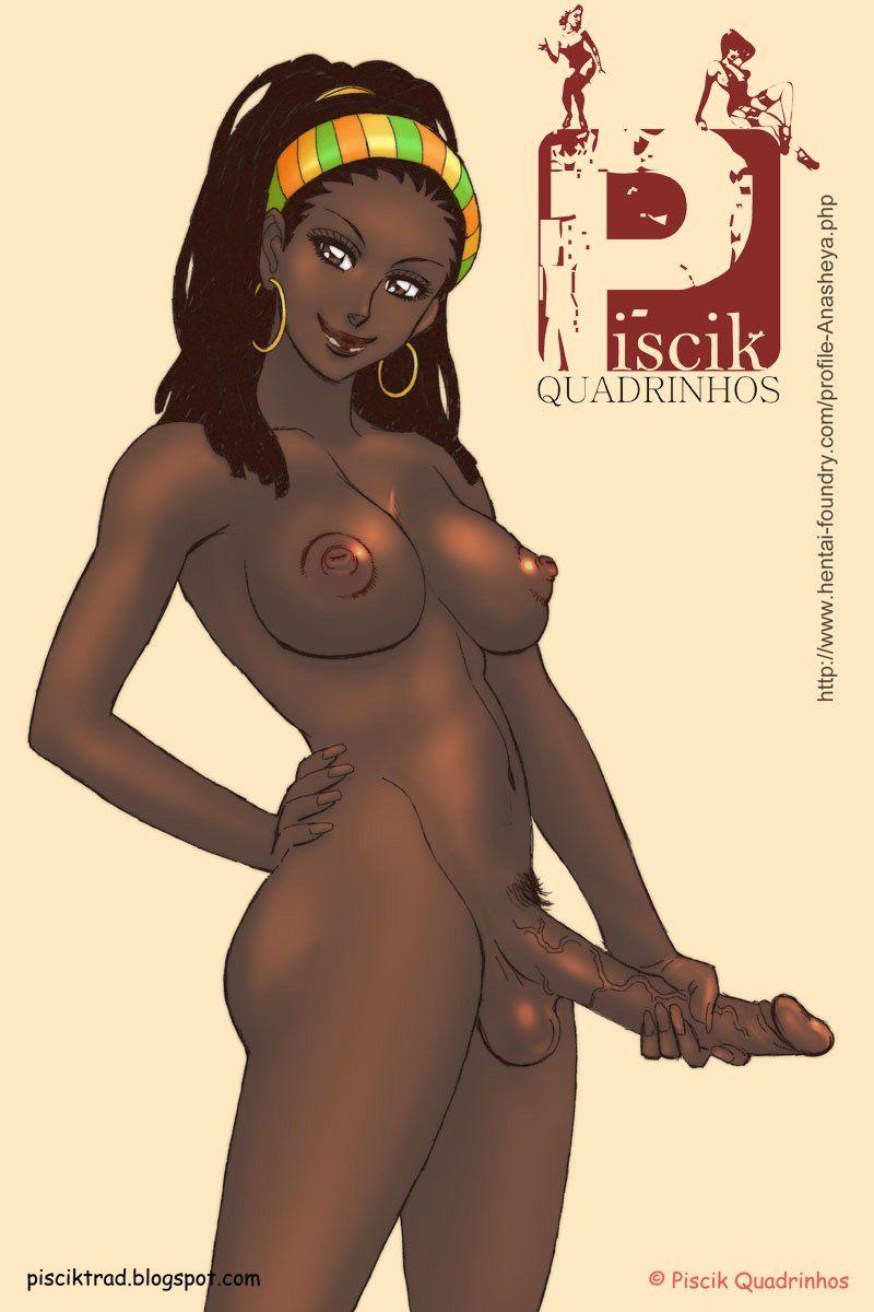 Travestis quadrinhos eroticos: Shemale dotada dando o cu