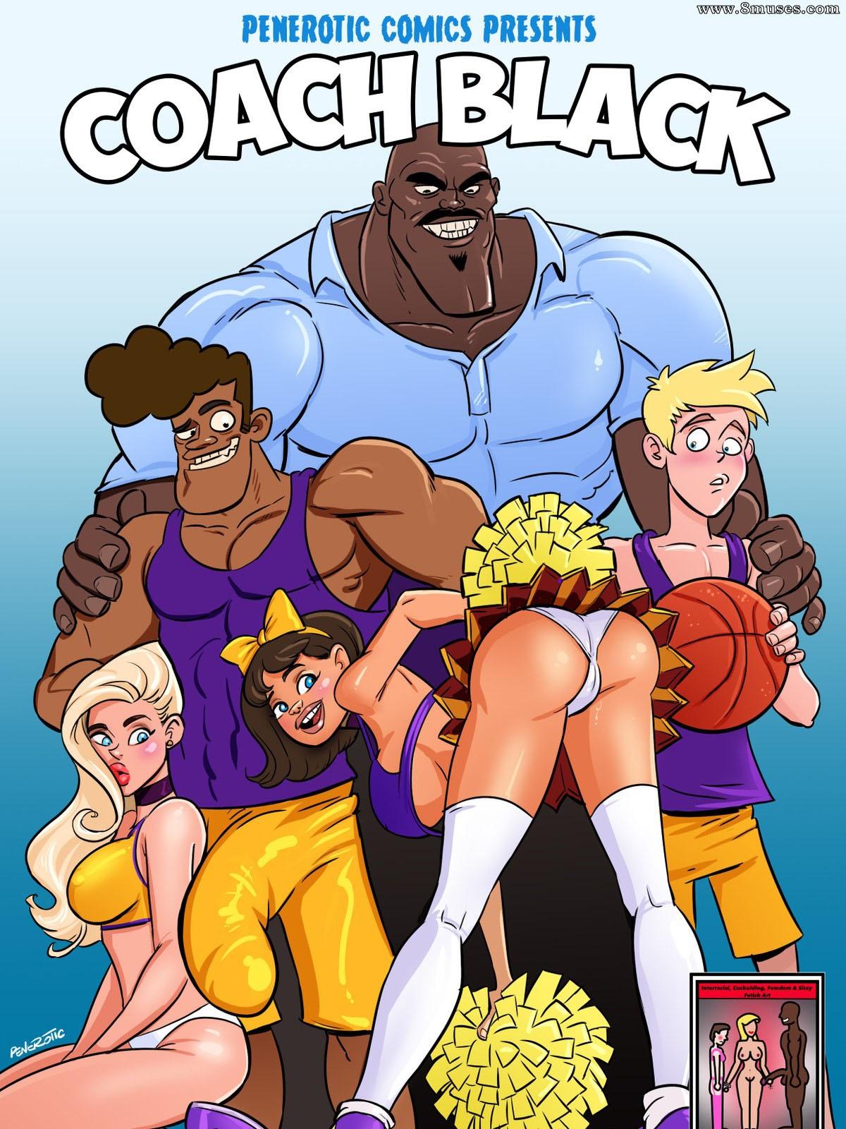 Treinador preto e lideres de torcida: Quadrinhos eróticos