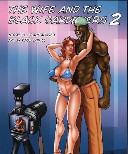 Gibi erótico Hentai A esposa e os jardineiros pretos 2