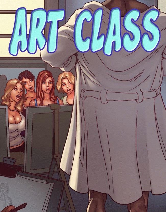 Quadrinhos eróticos inter-racial: Art Class o inicio