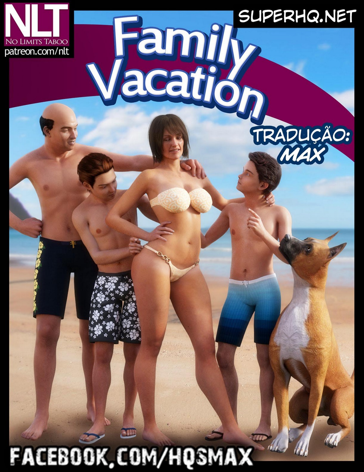 SuperHQ 2019: Quadrinhos Hentai 3D Incesto – Family Vacation