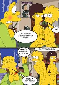 Incesto lesbico Lisa Simpson e Marge Simpson