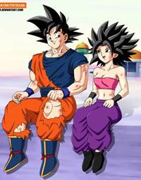 Saiyan Love – Goku Comendo Caulifla e Kale
