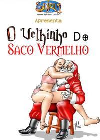 Papai Noel comendo cu virgem