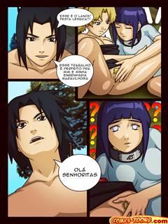 Sasuke comendo Hinata e Temari