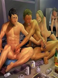 Homens pelados